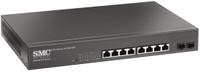 SMC 8 Port Gigabit PoE Smart Managed Ethernet Switch with 2 SFP Ports