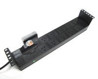 10 Outlet 2RU Horizontal Power Rail (10A) with 6kA C Curve Circuit Breaker