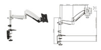 "13-24"" Counter Balance LCD Desk Mount. Max arm reach 500mm"