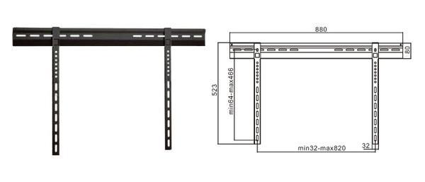 "32-63"" Ultra Thin Wall Mount Bracket for LCD/Plasma TV"