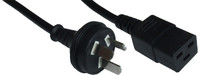 3 pin to C19. 15A rated, SAA Approved Power cord