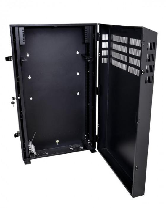 4RU Vertical Wall Mount Cabinet with 2U Horizontal Mount