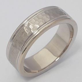 Men's White gold Wedding Band pgwb155-gold-wedding-band