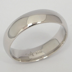 Men's White gold Wedding Band pgwb144-gold-wedding-band