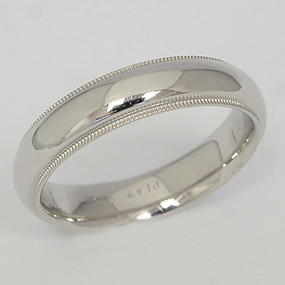 Men's White gold Wedding Band pgwb143-gold-wedding-band