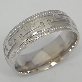 Men's White gold Wedding Band pgwb134-gold-wedding-band
