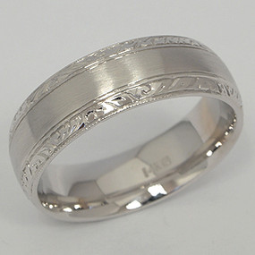 Men's White gold Wedding Band pgwb131-gold-wedding-band