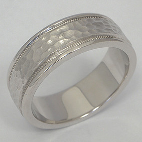 Men's White gold Wedding Band pgwb130-gold-wedding-band