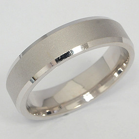 Men's White gold Wedding Band pgwb126-gold-wedding-band
