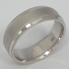 Men's White gold Wedding Band pgwb123-gold-wedding-band