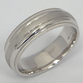 Men's White gold Wedding Band pgwb121-gold-wedding-band