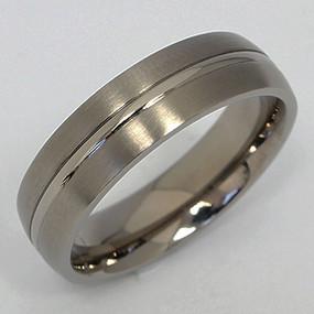 Men's Titanium Wedding Band tita139-titanium-wedding-band