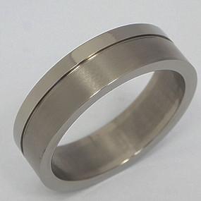 Men's Titanium Wedding Band tita137-titanium-wedding-band