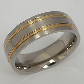 Men's Titanium Wedding Band tita141-titanium-wedding-band