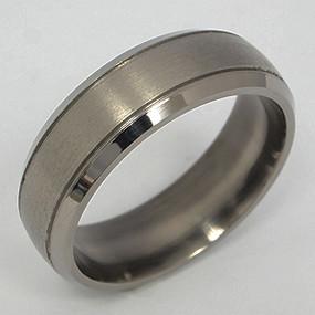 Men's Titanium Wedding Band tita135-titanium-wedding-band