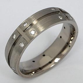 Men's Titanium Wedding Band tita130-titanium-wedding-band