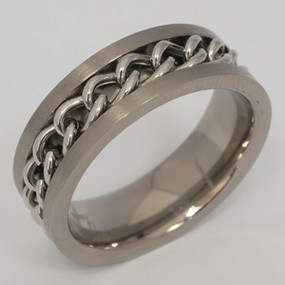 Men's Titanium Wedding Band tita124-titanium-wedding-band