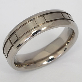 Men's Titanium Wedding Band tita112-titanium-wedding-band