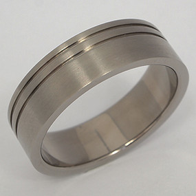 Men's Titanium Wedding Band tita109-titanium-wedding-band