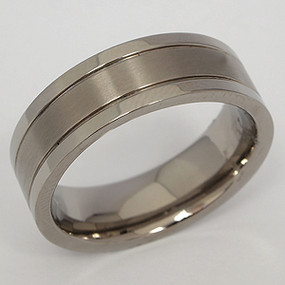 Men's Titanium Wedding Band tita108-titanium-wedding-band