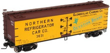 Atlas O Glenbulah Canning 40' wood reefer, 3 rail or 2 rail  car