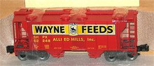 Weaver Wayne Feeds 34' PS-2 covered hopper car, 3 rail or 2 rail