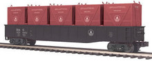 MTH Premier B&O Gondola Car with 5 LCL Containers, 3 rail