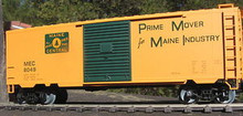 Weaver Maine Central (green on yellow) 40' PS-1 box car, 3 rail or 2 rail