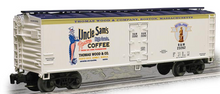 Weaver Uncle Sam Coffee 40' Reefer, 3 or 2 rail