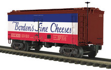 MTH Premier Borden's Fine Cheeses 36' wood reefer,  3 rail