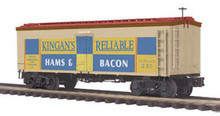 MTH Premier Kingan's Reliable 36' wood reefer,  3 rail
