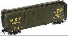 Atlas O MKT 1937 style 40' DD steel box car, 3 rail or 2 rail