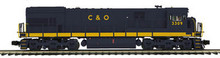 MTH Premier C&O U30C  diesel, 2 rail, with sound and smoke