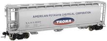 Atlas O Trona  Cylindrical Covered  Hopper, 3 rail or 2 rail