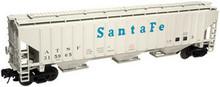 Atlas O Santa Fe PS4750 3 bay covered hopper, 3 or 2 rail