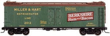 Atlas O Berkshire Ham & Bacon (green)  40' wood reefer, 3 rail or 2 rail