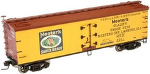 Atlas O Meeters Sauerkraut 40' wood reefer, 3 rail or 2 rail