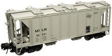Atlas O MILW 34'  ACF Covered Hopper, 3 rail  or 2 rail