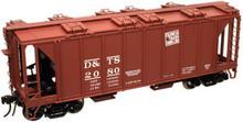 Atlas O DT&S 34'  ACF Covered Hopper, 3 rail  or 2 rail