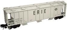 Atlas O Erie  40'  3 bay covered hopper, 3 rail  or 2 rail