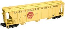 Atlas O Atlantic Sugar 40'  3 bay covered hopper, 3 rail  or 2 rail