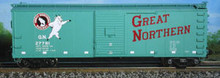Atlas O GN  40' usra steel  box car, 3 or 2 rail