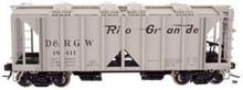 Atlas O Custom Rio Grande  ACF 34' Covered Hopper, 3 rail or 2 rail