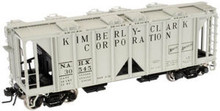 Atlas O Kimberly-Clark  ACF 34' Covered Hopper, 3 rail or 2 rail
