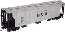 Atlas O N&W  40'  3 bay covered hopper, 3 rail  or 2 rail