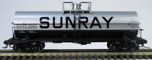 Atlas O  Sunray Oil Co. 11,000 gallon tank car, 3 rail or 2 rail