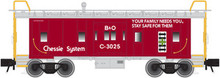 Atlas O Chessie System (Red) Bay Window Caboose, 3 Rail