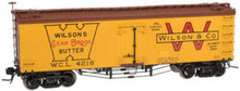 Atlas O Wilson (clear brook butter) 36' wood reefer,  3 rail or 2 rail