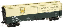 Atlas O Raskins  40' steel reefer, 3 or 2 rail