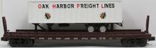Weaver PDT exclusive Oak Harbor trailer on SP&S flat car, 2 rail or 3 rail